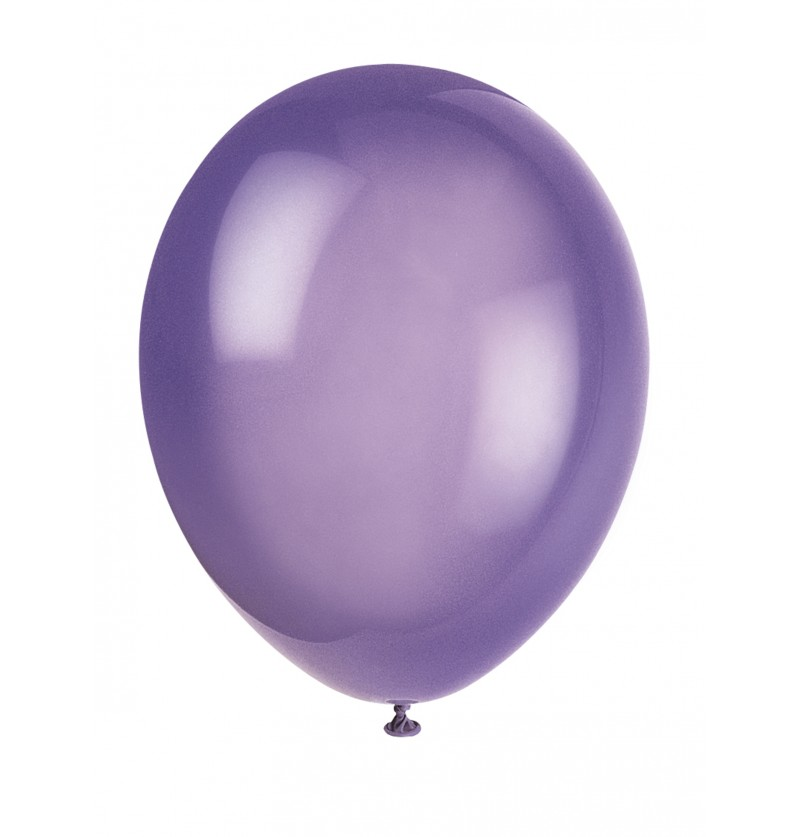 set de 10 globos color morado lnea colores bsicos