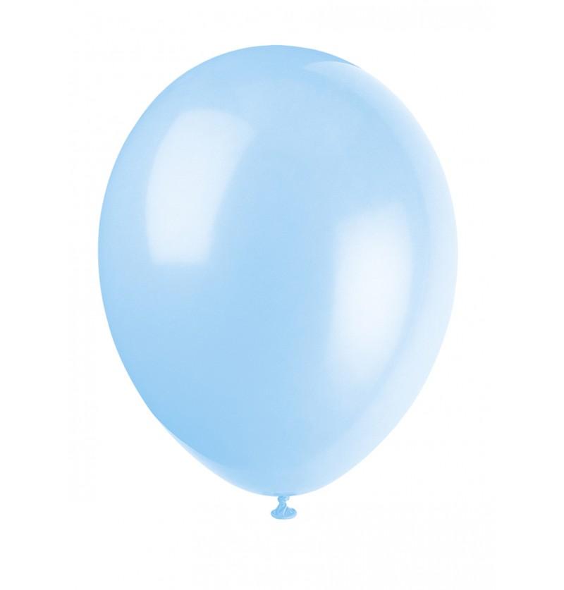 set de 10 globos color azul cielo lnea colores bsicos
