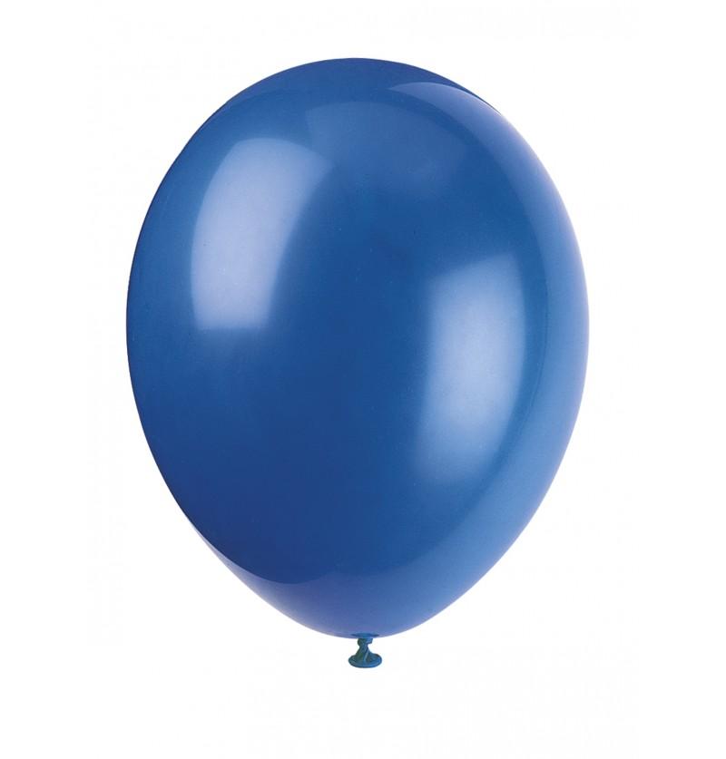 set de 10 globos color azuln lnea colores bsicos