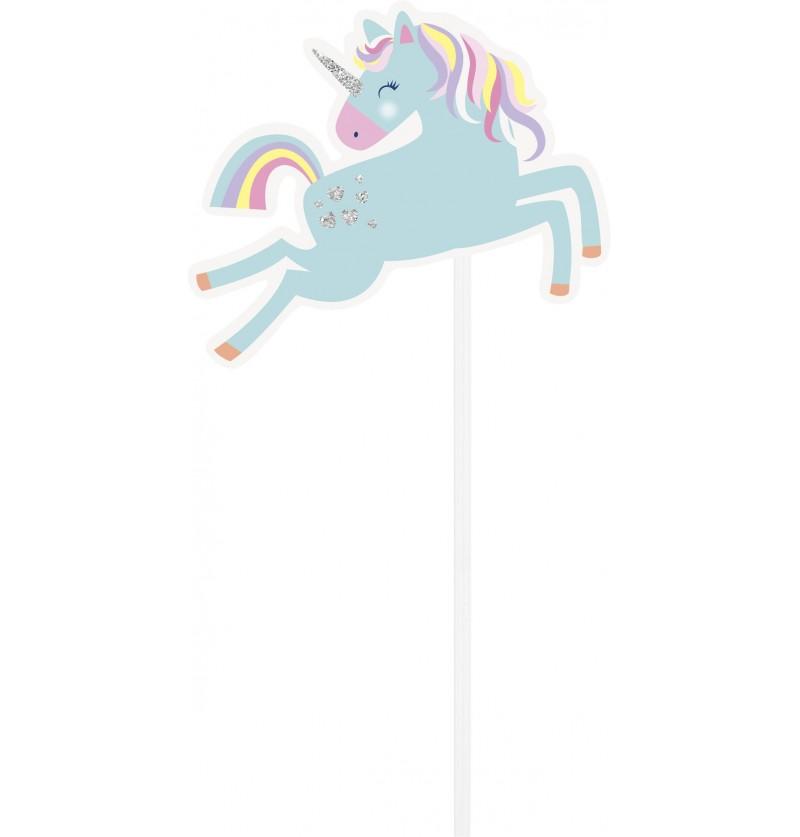 set de 10 complementos para photocall de unicornio feliz unicorn
