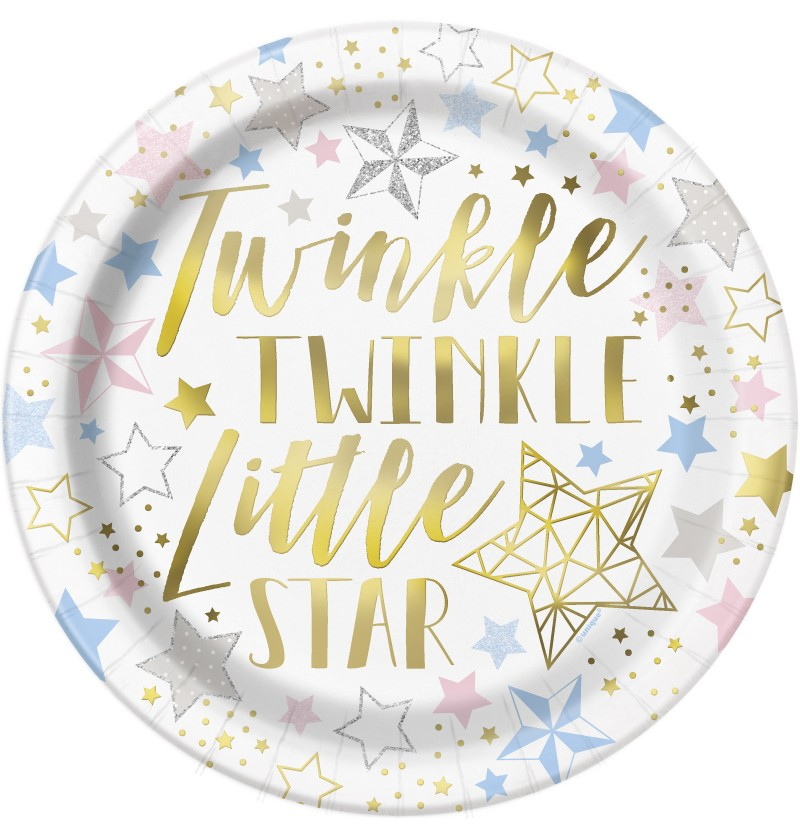 set de 8 platos twinkle little star