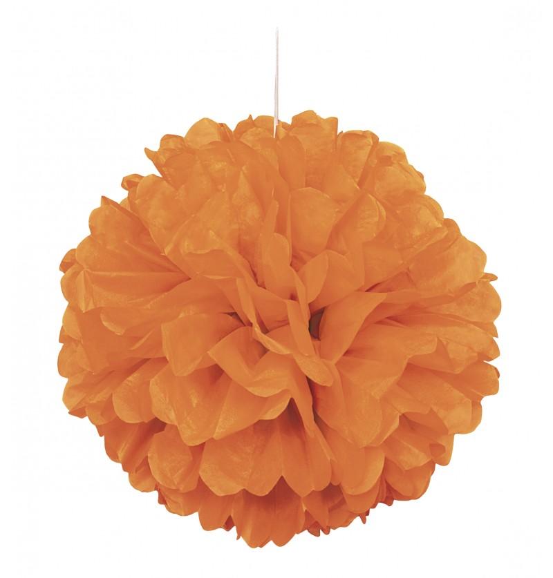 pom pom decorativo color naranja lnea colores bsicos