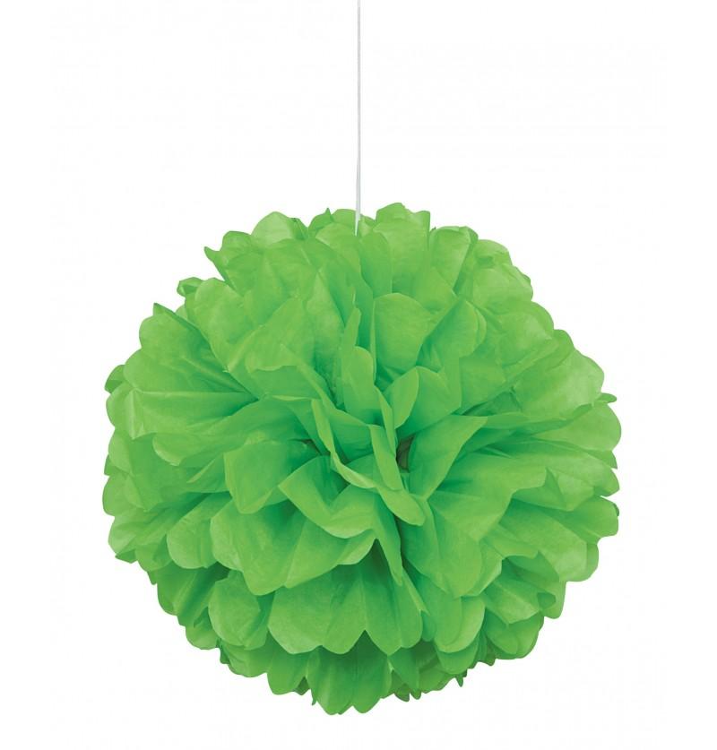 pom pom decorativo color verde lima lnea colores bsicos