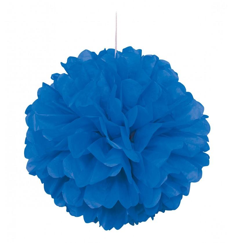 pom pom decorativo color azul oscuro lnea colores bsicos