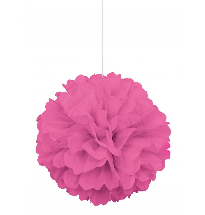 pom pom decorativo color rosa lnea colores bsicos