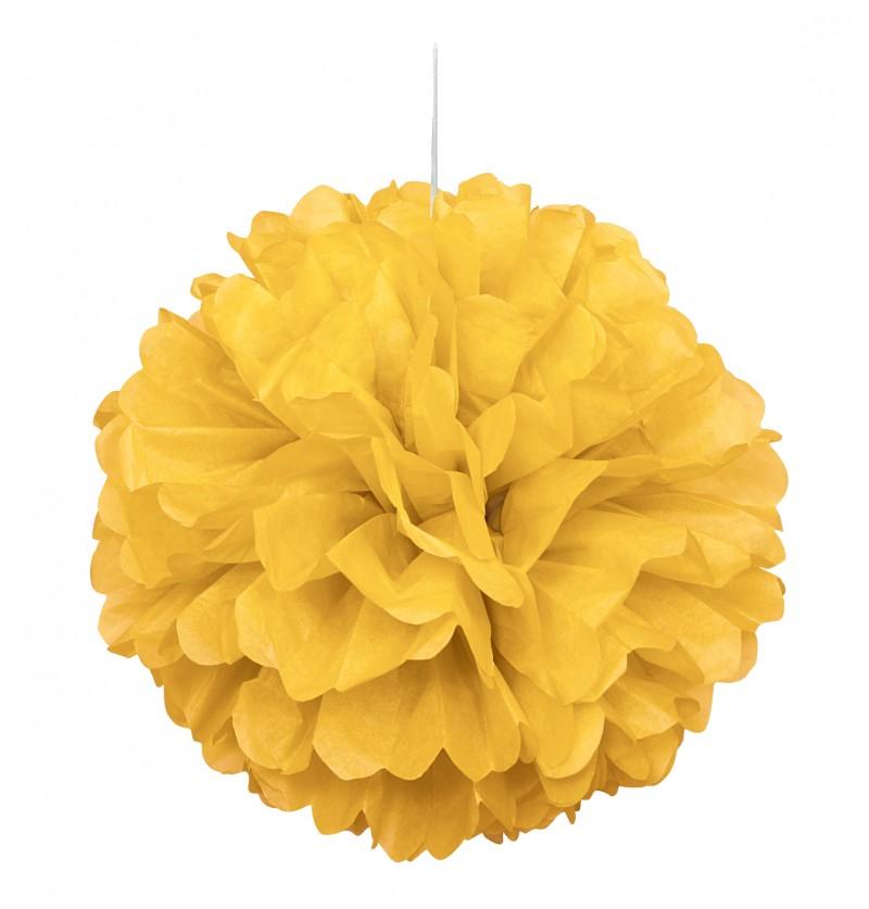 pom pom decorativo color amarillo lnea colores bsicos