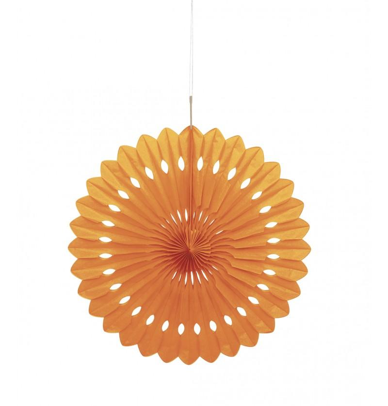 abanico decorativo naranja lnea colores bsicos
