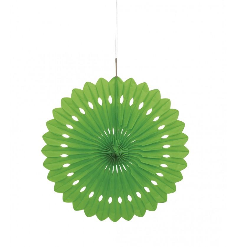 abanico decorativo color verde lima lnea colores bsicos
