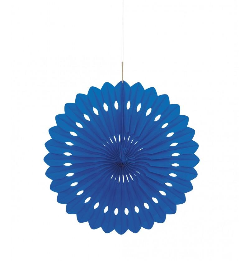 abanico decorativo color azul oscuro lnea colores bsicos