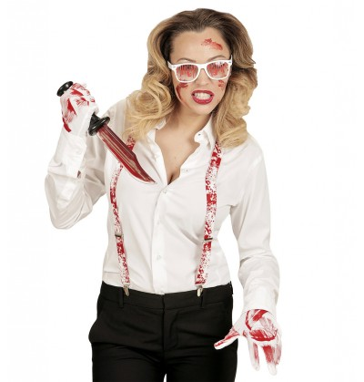 kit disfraz de psicpata ensangrentado