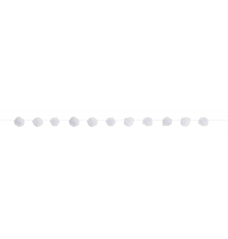 guirnalda de pompones blancos lnea colores bsicos