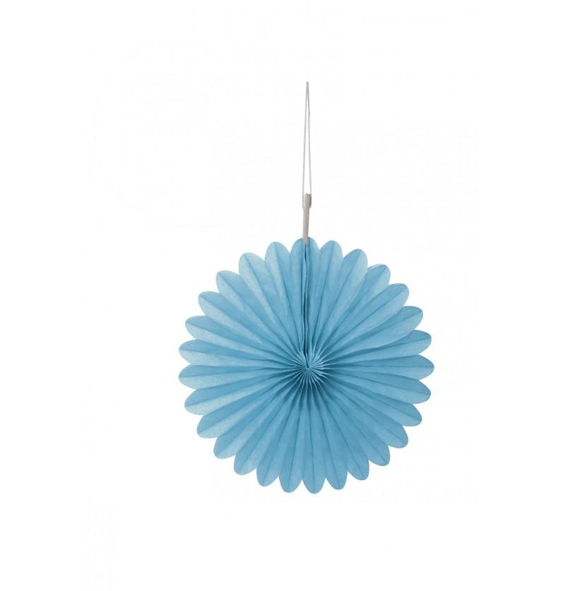 set de 3 abanicos decorativos azul cielo lnea colores bsicos