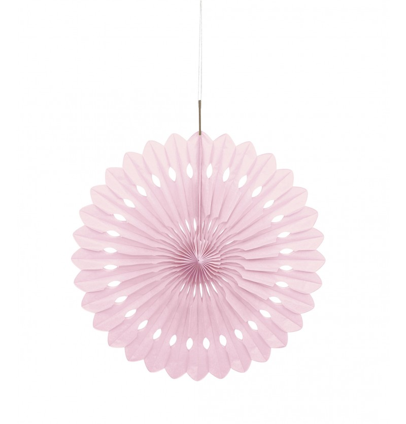 abanico decorativo rosa claro lnea colores bsicos