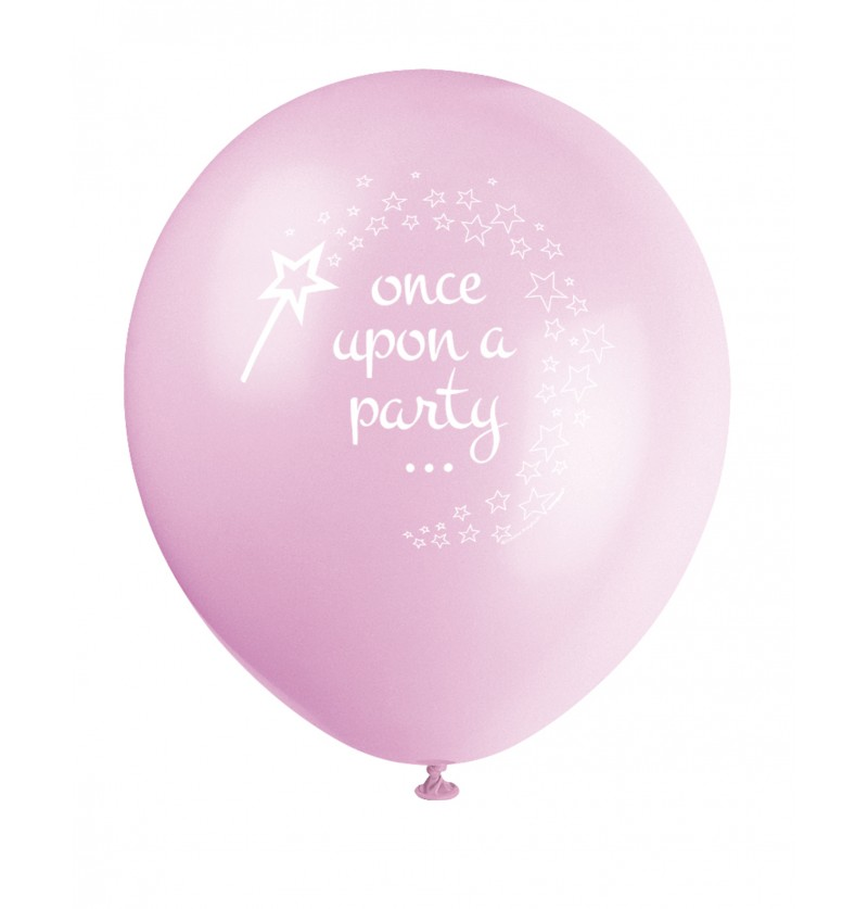 set de 8 globos de unicornio rosa magic unicorn