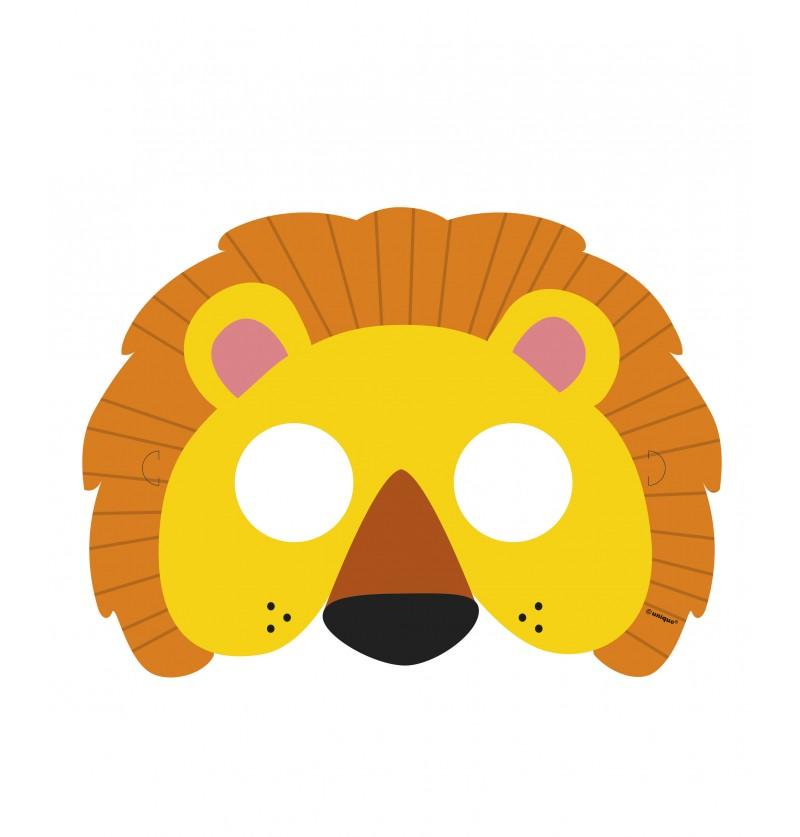 set de 8 antifaces animal jungle