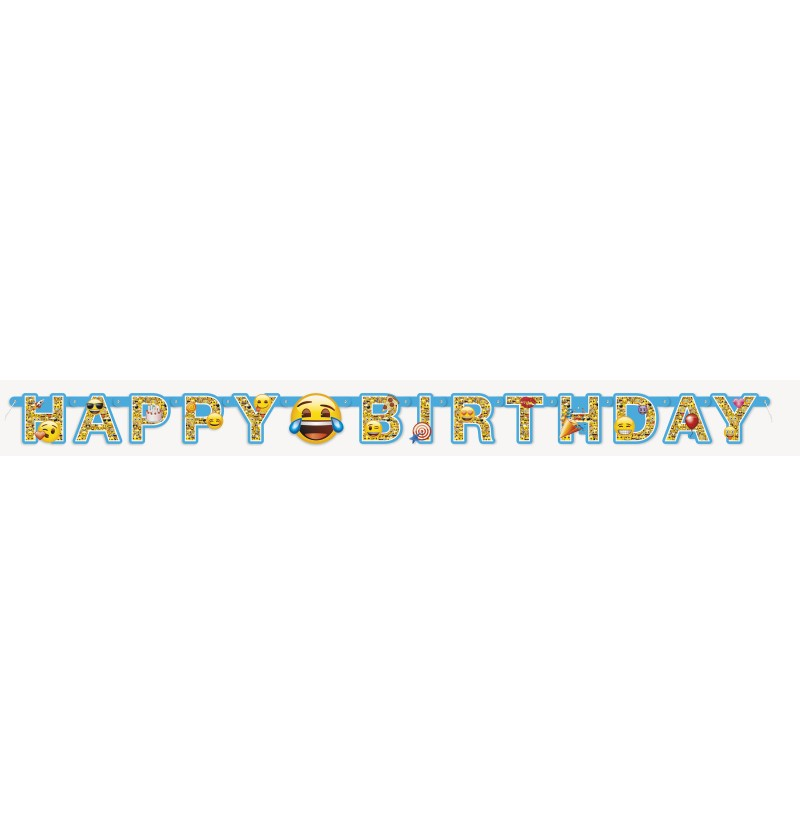 guirnalda happy birthday emoticonos emoji