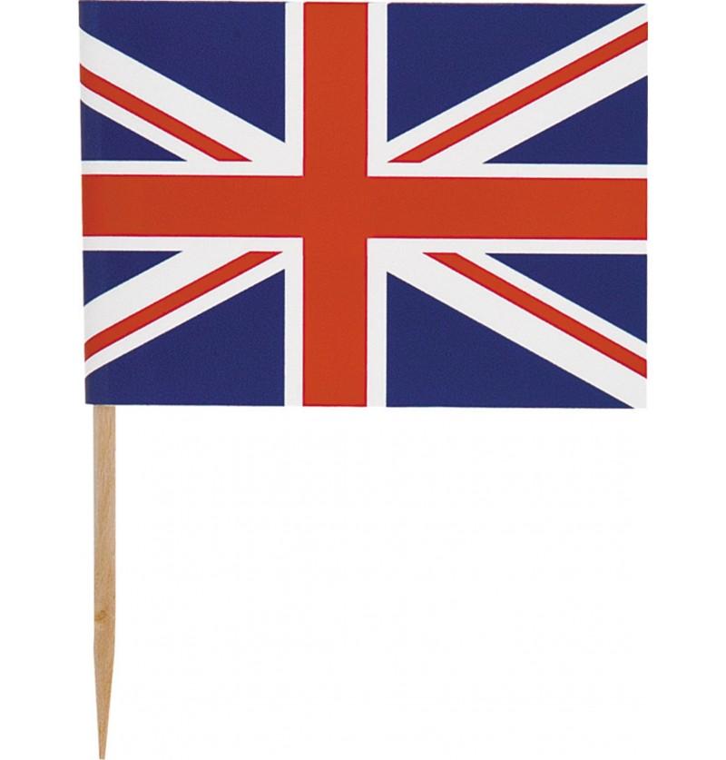 set de 30 palillos con la bandera britnica best of british