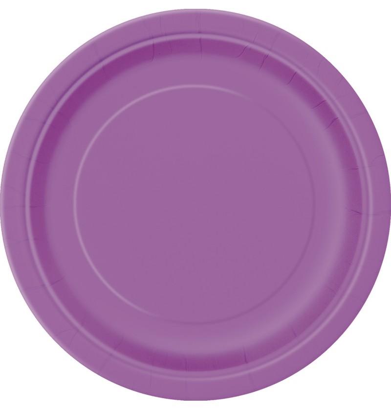 set de 20 platos medianos morados lnea colores bsicos