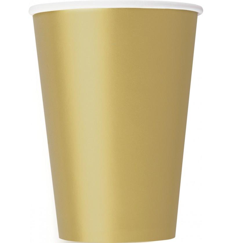 set de 10 vasos grandes dorados lnea colores bsicos