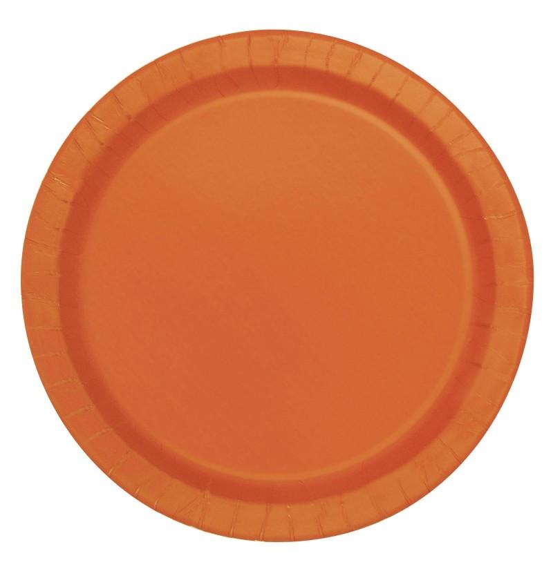 set de 20 platos pequeos naranjas lnea colores bsicos