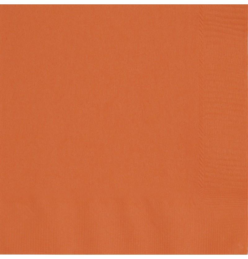 set de 50 servilletas grandes naranjas lnea colores bsicos