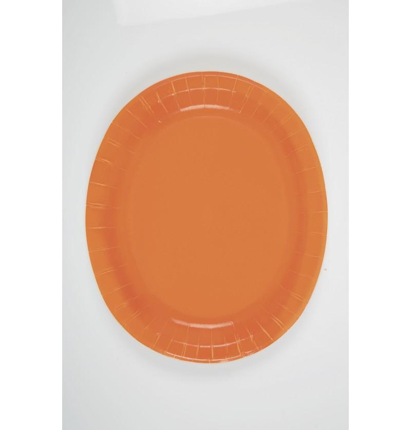 set de 8 bandejas ovaladas naranja lnea colores bsicos lnea colores bsicos
