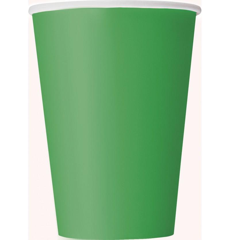 set de 10 vasos grandes color verde esmeralda lnea colores bsicos