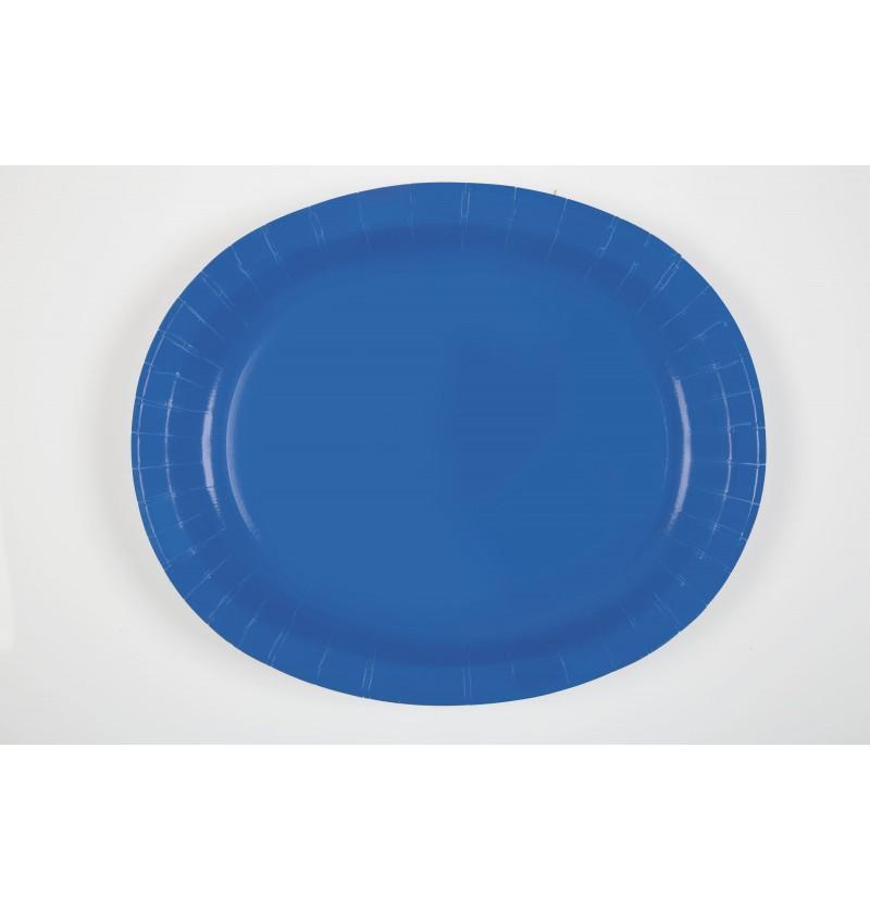 set de 8 bandejas ovaladas azul oscuro lnea colores bsicos