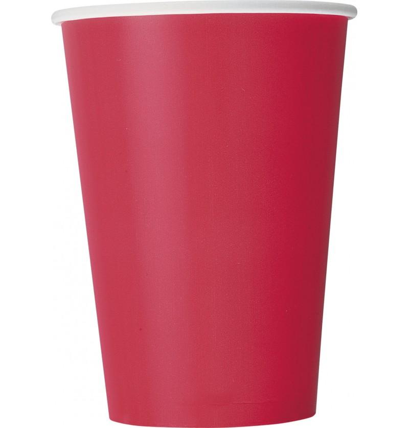 set de 10 vasos grandes rojos lnea colores bsicos