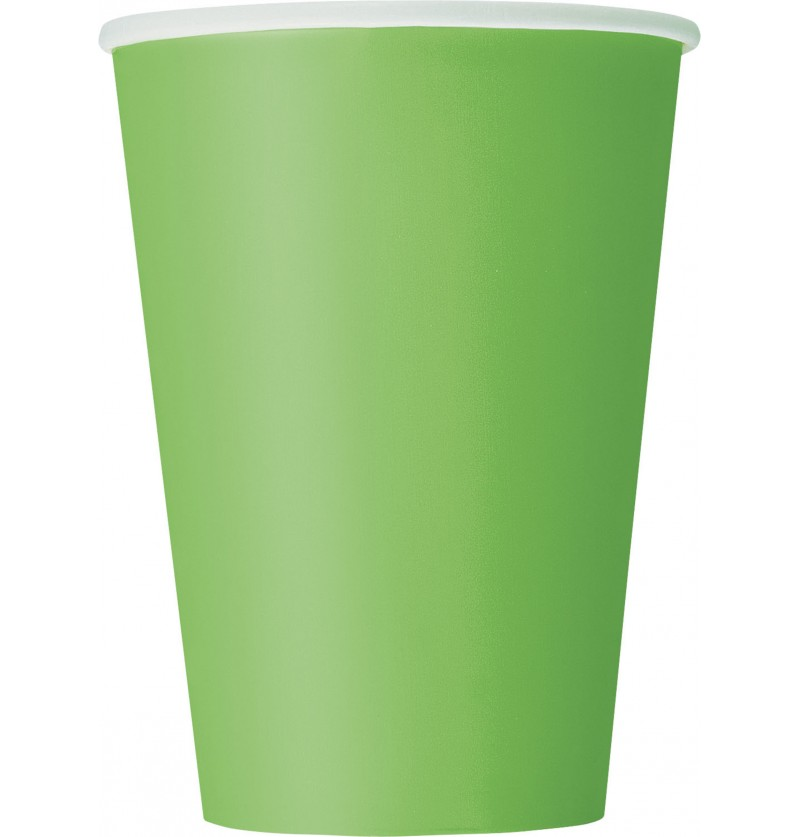 set de 10 vasos grandes color verde lima lnea colores bsicos