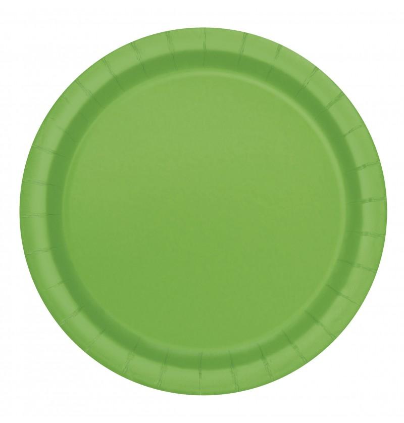 set de 8 platos de postre verde lima lnea colores bsicos