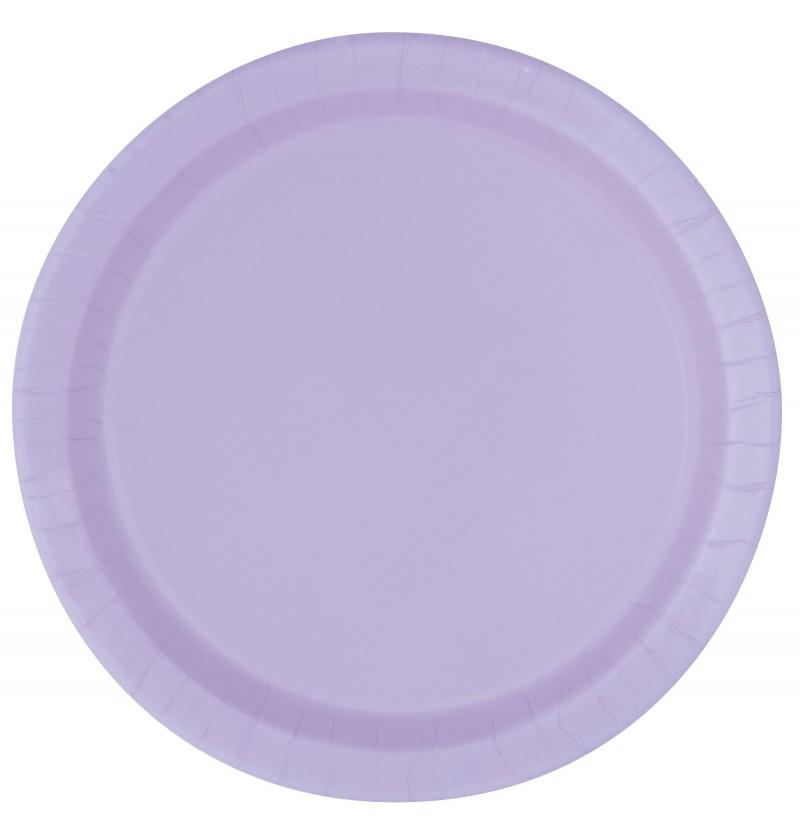 set de 8 platos lila lnea colores bsicos