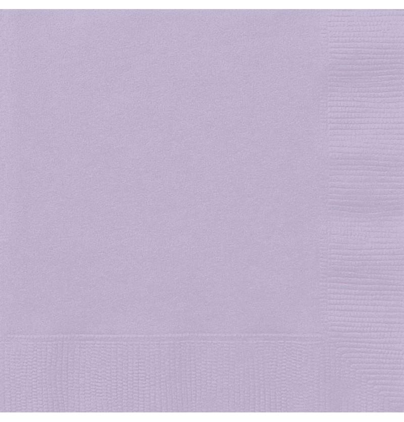 set de 20 servilletas grandes lilas lnea colores bsicos