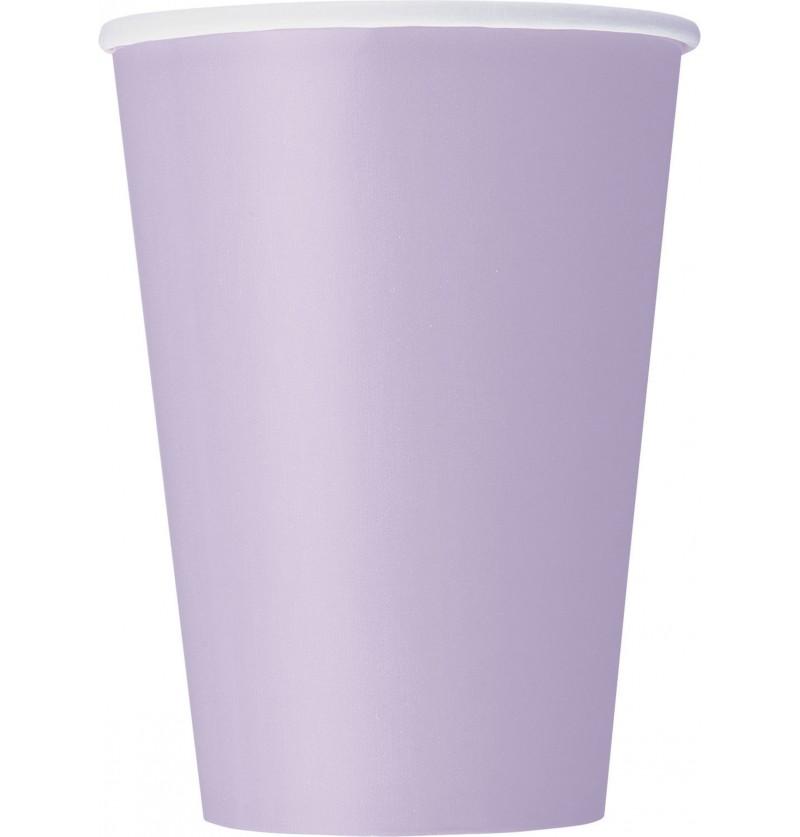 set de 10 vasos grandes lilas lnea colores bsicos