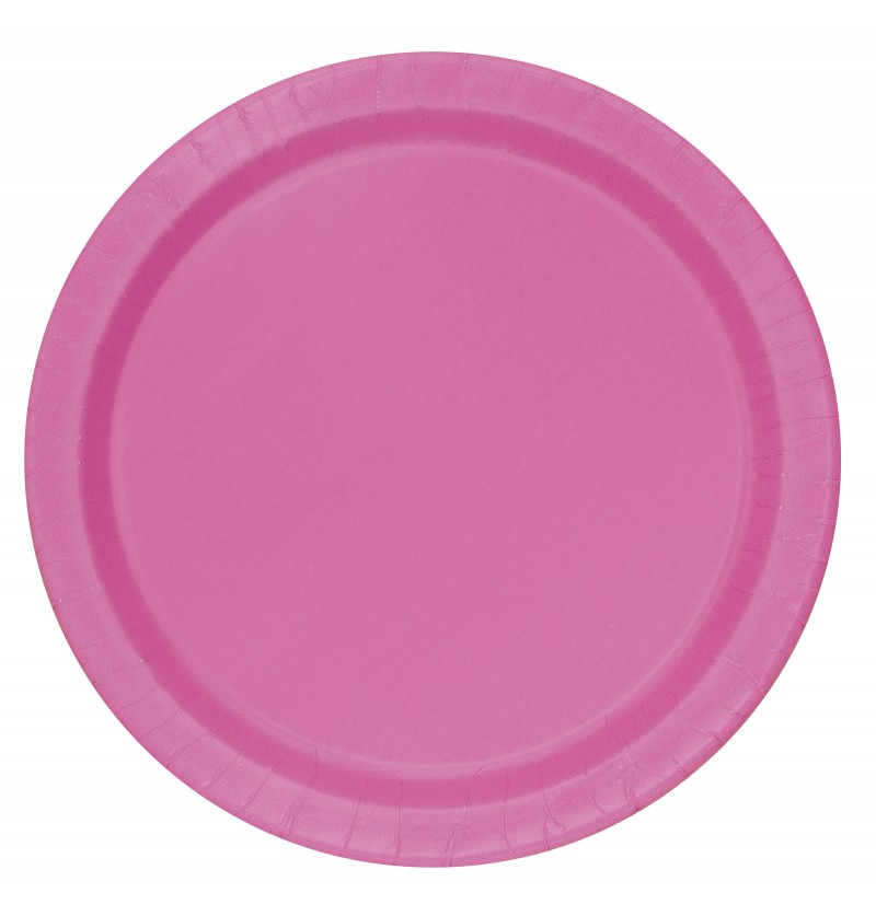 set de 16 platos rosas lnea colores bsicos