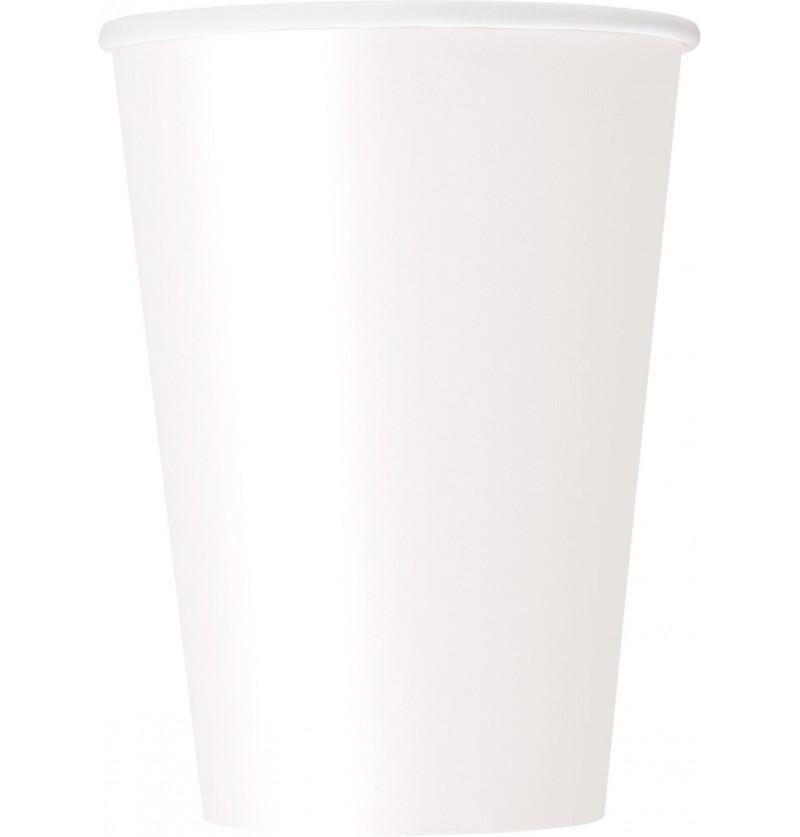 set de 10 vasos grandes color blanco lnea colores bsicos