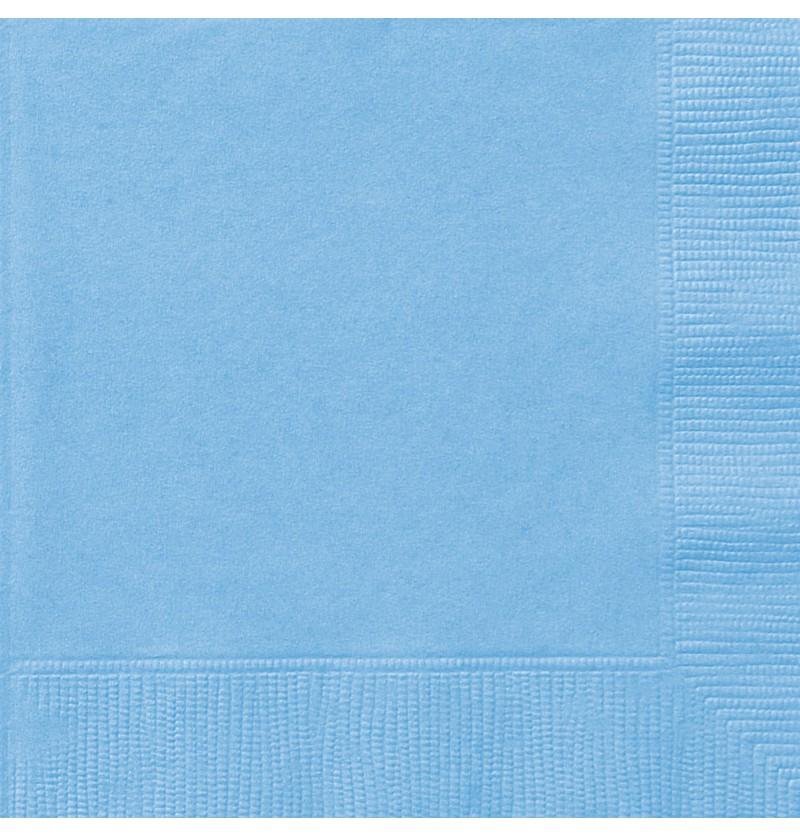 set de 20 servilletas grandes azul cielo lnea colores bsicos