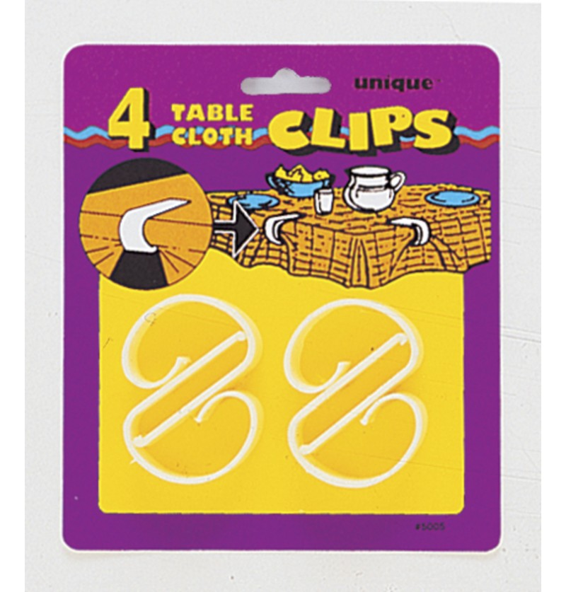 set de 4 clips sujetamanteles
