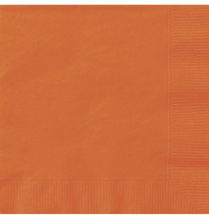 set de 20 servilletas grandes naranjas lnea colores bsicos