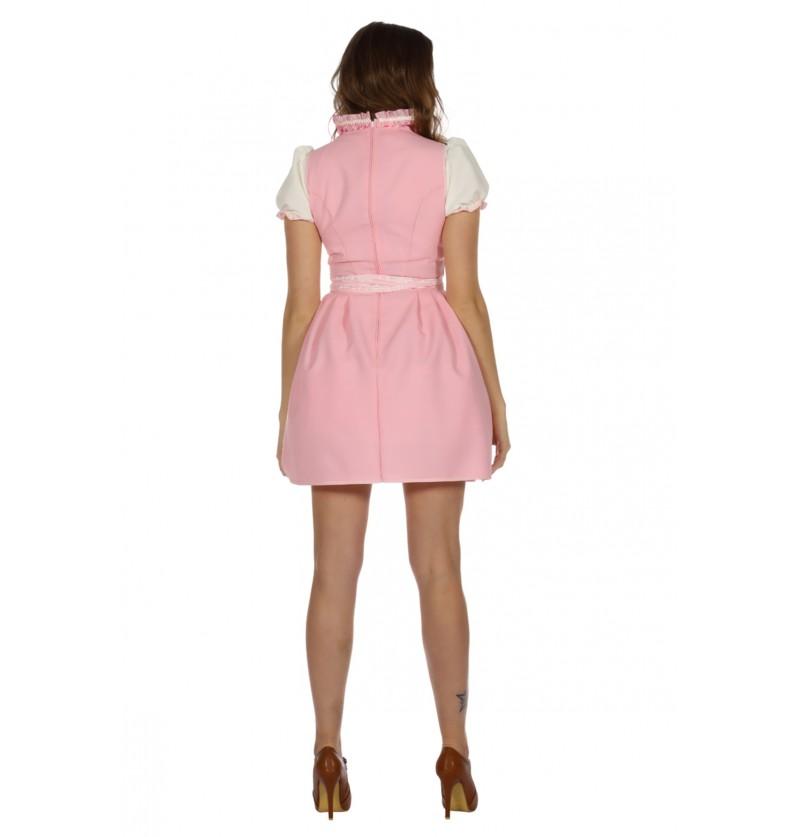disfraz de tirolesa rosa oktoberfest para mujer
