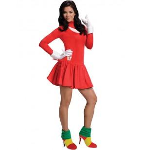 Disfraz de Knuckles Sonic para mujer