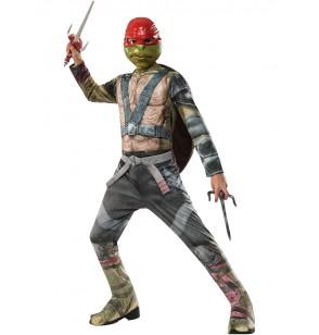 Disfraz de Raphael Tortugas Ninja 2 para niño