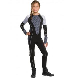Disfraz de Katniss Everdeen Los Juegos del Hambre En Llamas para niña