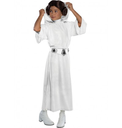 Disfraz de Princesa Leia deluxe para niña