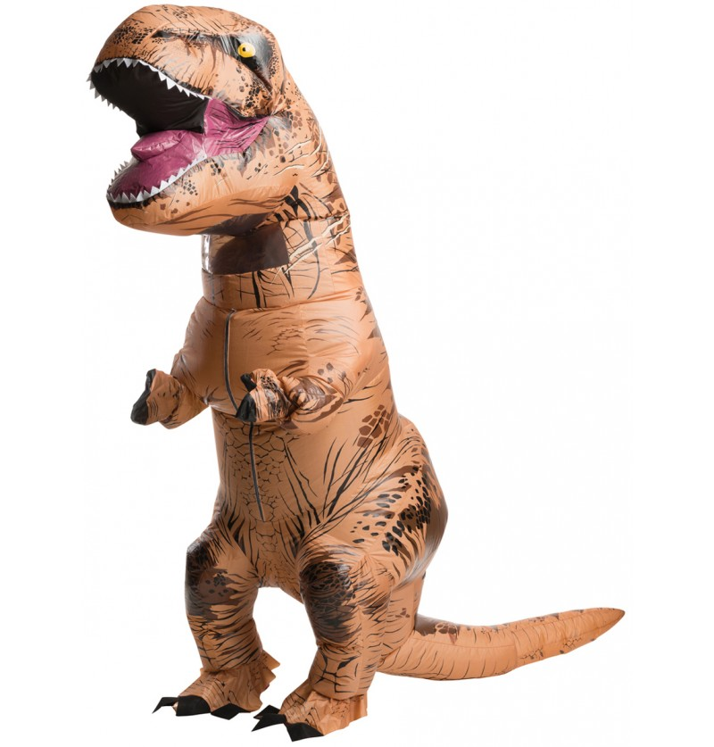 Disfraz de T-Rex hinchable Jurassic World para adulto