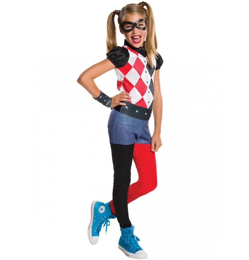 Disfraz de Harley Quinn classic para niña