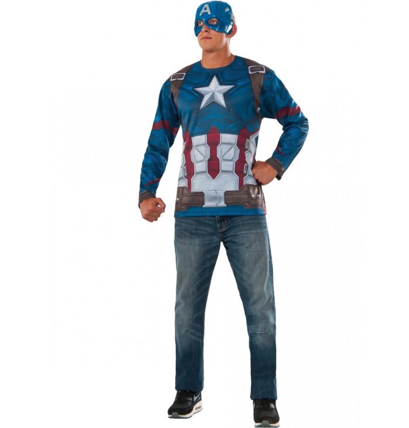 Kit disfraz de Capitán América Civil War para hombre