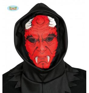 mscara de demonio aterrador de spandex con capucha para adulto