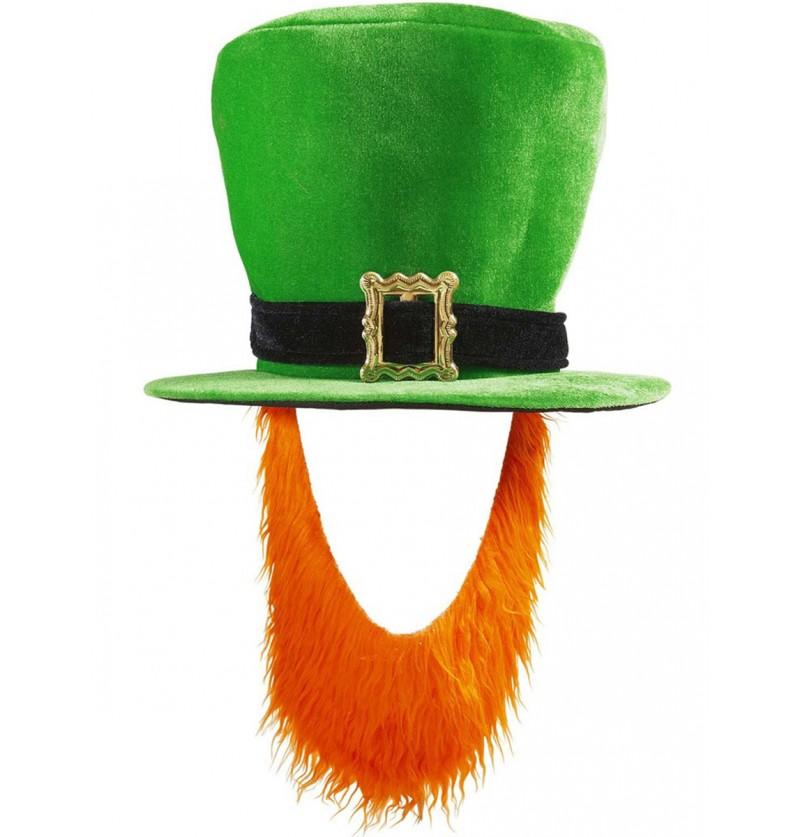 Sombrero con barba de Leprechaun para hombre