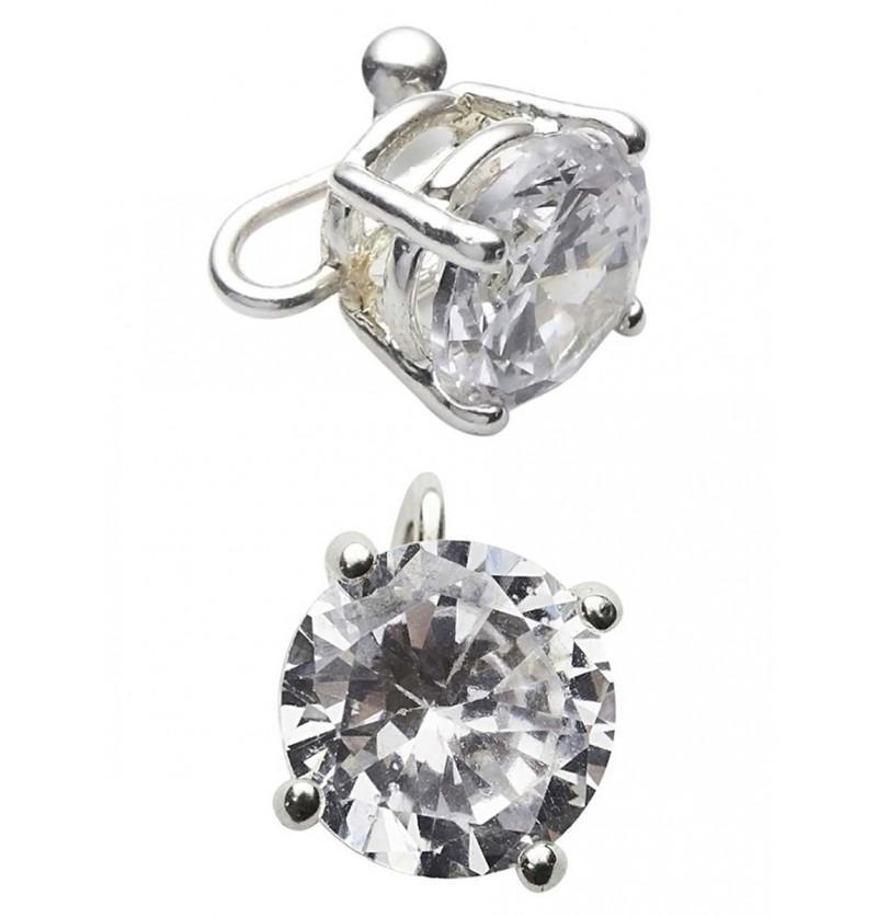 Pendiente con diamante brillante
